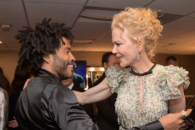 Nicole Kidman just let slip that she was once engaged to Lenny Kravitz