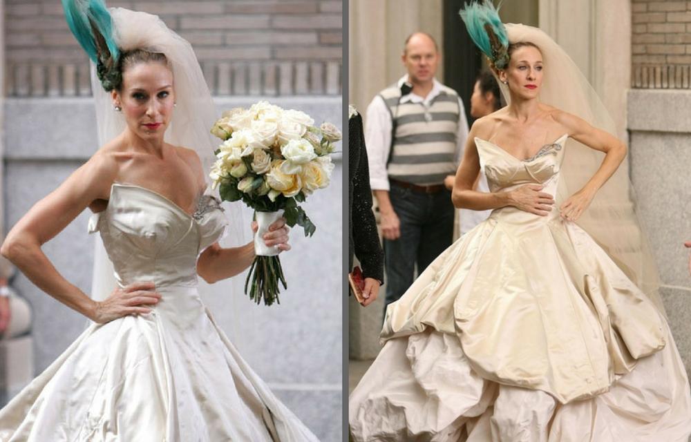 Carry Bradshaw Wedding Dress.Carrie Bradshaw S Sex And The City Vivienne Westwood Wedding Dress