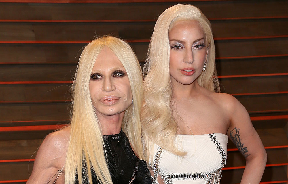 Donatella Versace And Lady Gaga