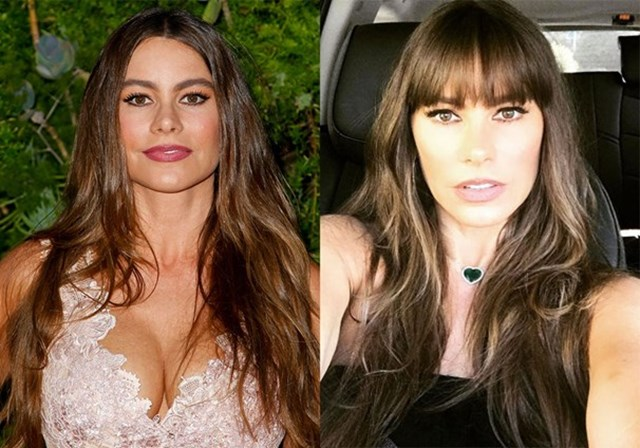Celebrity fringe before and afters