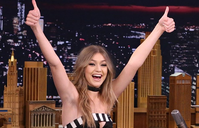 Gigi Hadid Showed Off Her Competitive Side On Jimmy Fallon