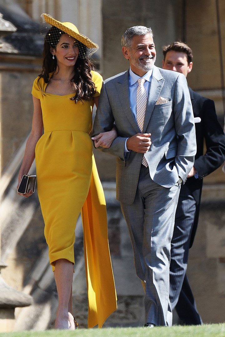Amal And George Clooney Couple Dress At Royal Wedding Marie Claire Australia