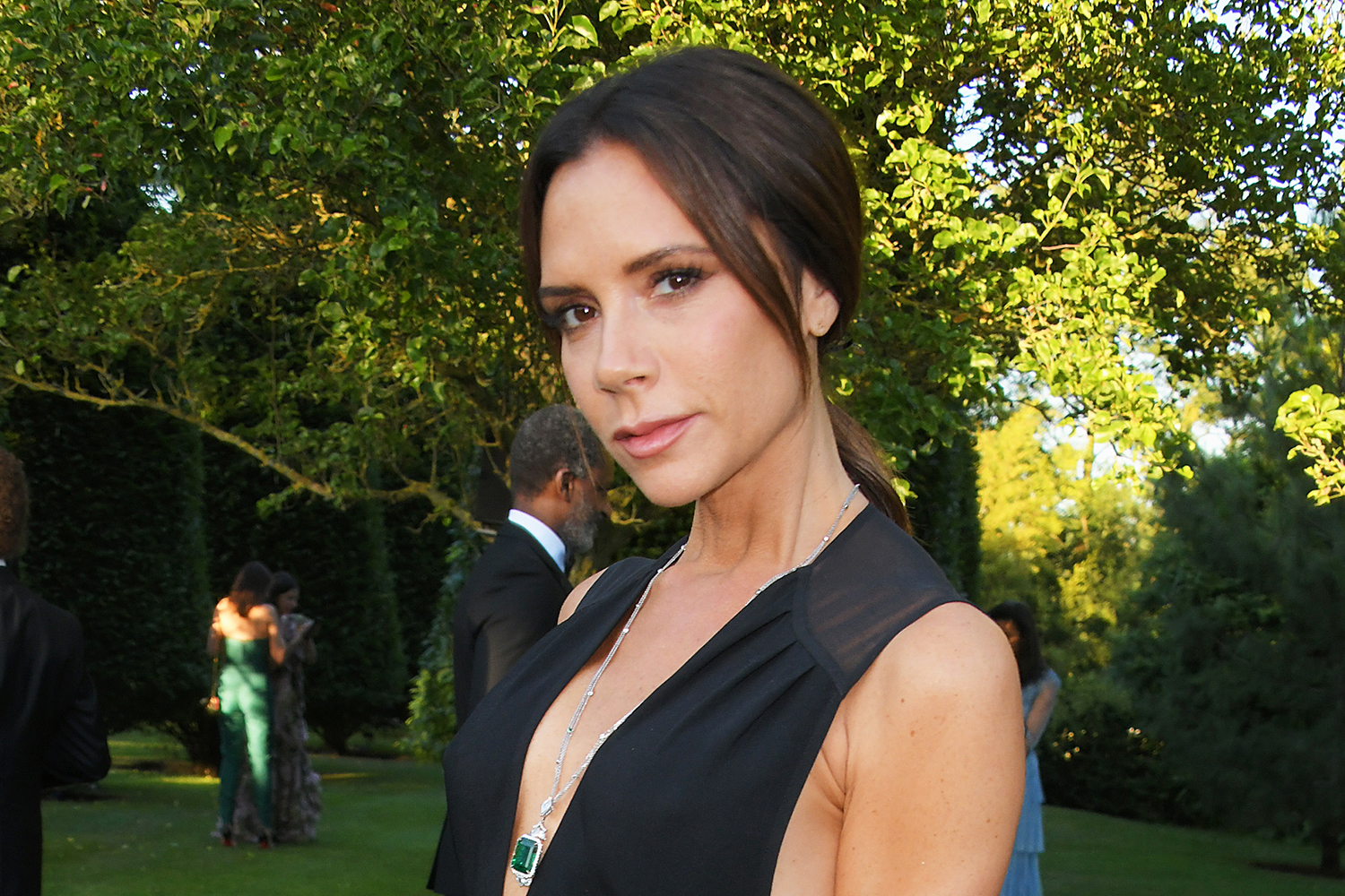 7a3339a2af0f Victoria Beckham stuns in black gown at Argento Ball | Marie Claire  Australia