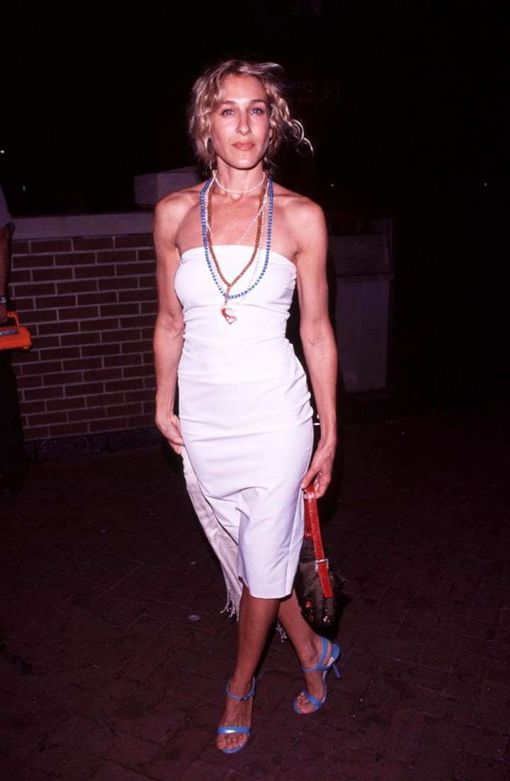 54a6aca42352 Bella Hadid Has Brought Back This Popular '90s Dress | Marie Claire ...