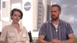 Ryan Gosling and Clare Foy chat about new film 'First Man'