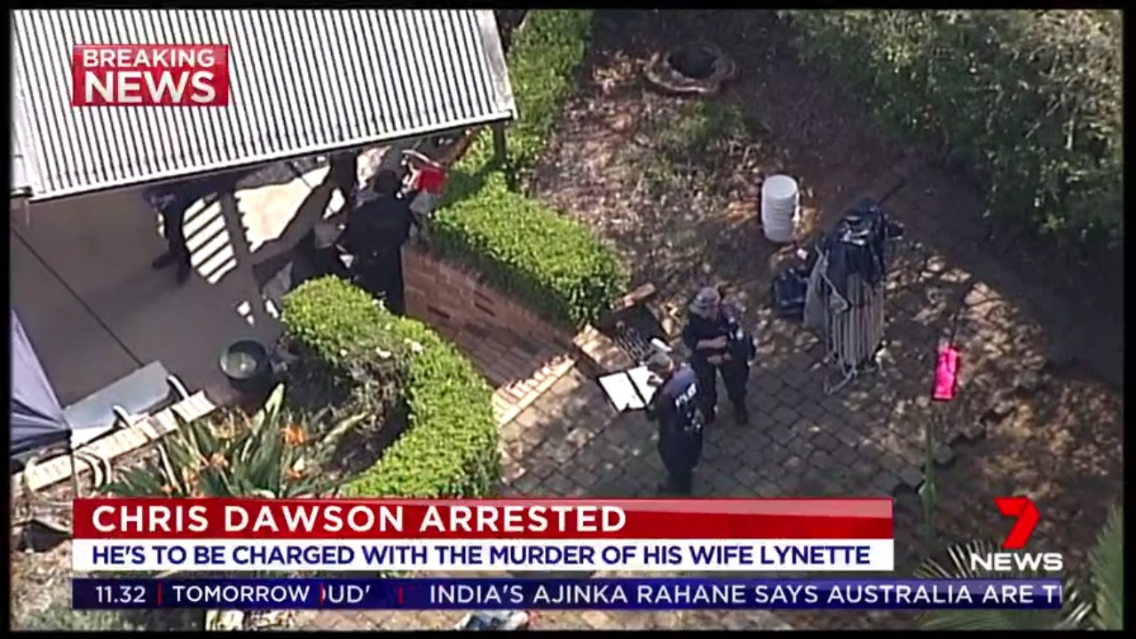 Police release official statement confirming Dawson family know of Chris Dawson's arrest