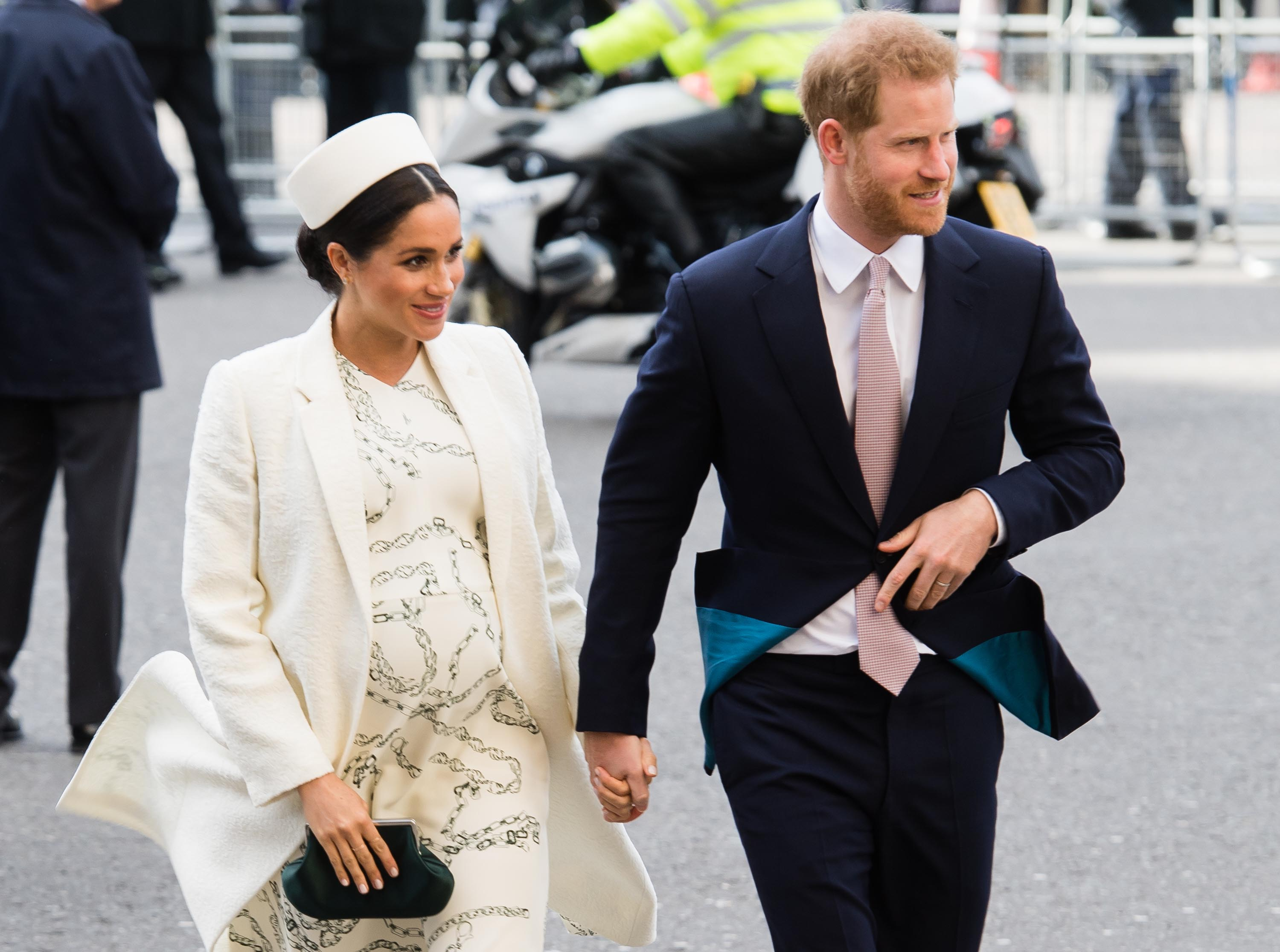 2dfba92d8301 Meghan Markle Just Channelled Princess Diana With Her White Dress and  Pillbox Hat