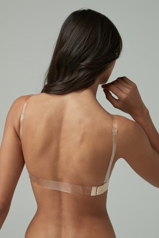 Invisible Back Clear Back Bra Converts to Strapless Bra