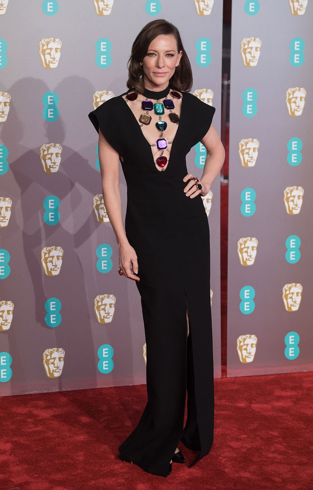 Cate Blanchett at the BAFTAs 2019 Red Carpet - Photos at