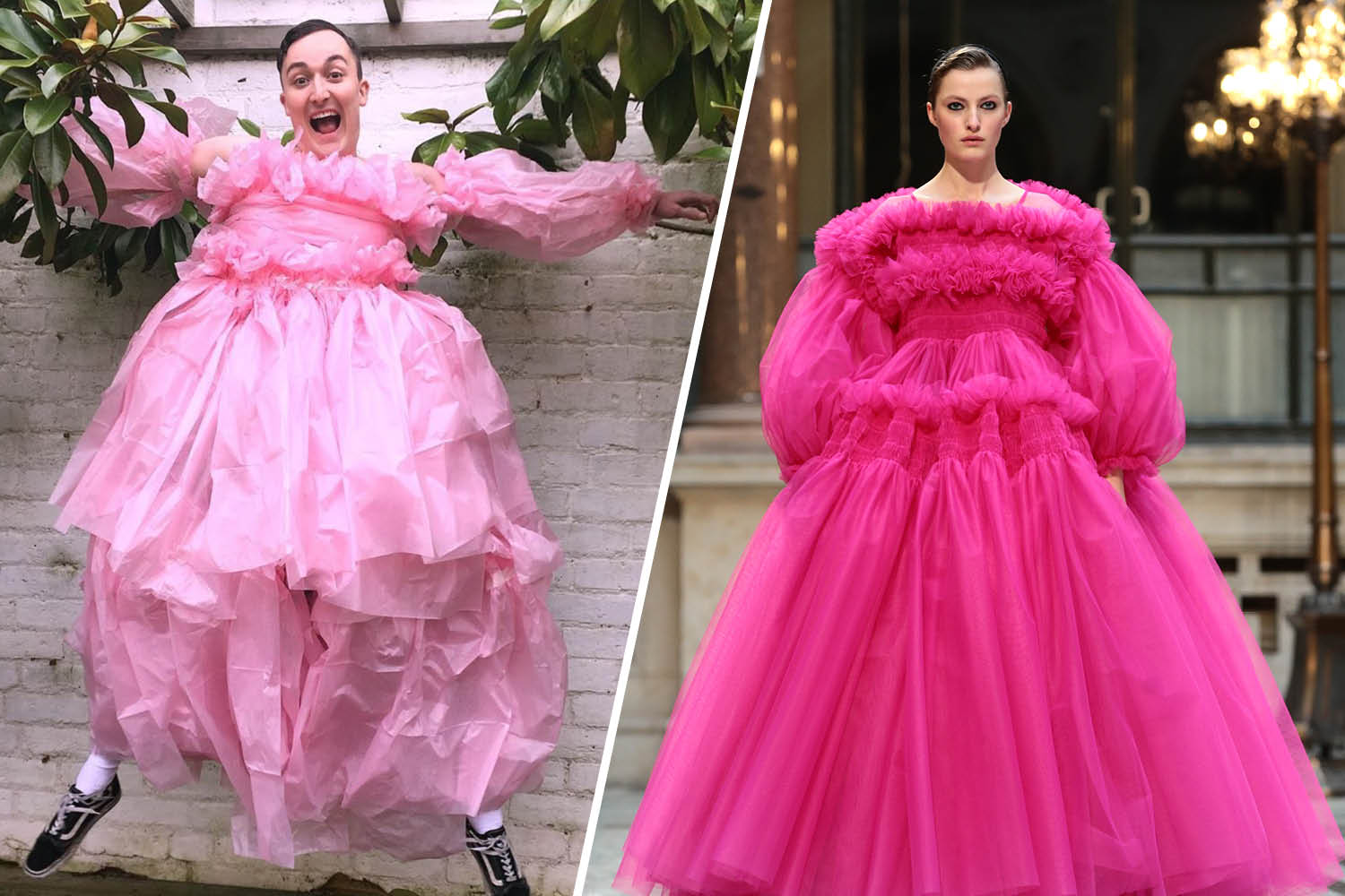 Couture Season Is Cancelled So People Are Creating Their Own #HomeCouture Looks