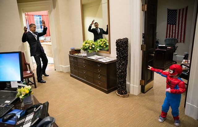 Candid photos of President Obama