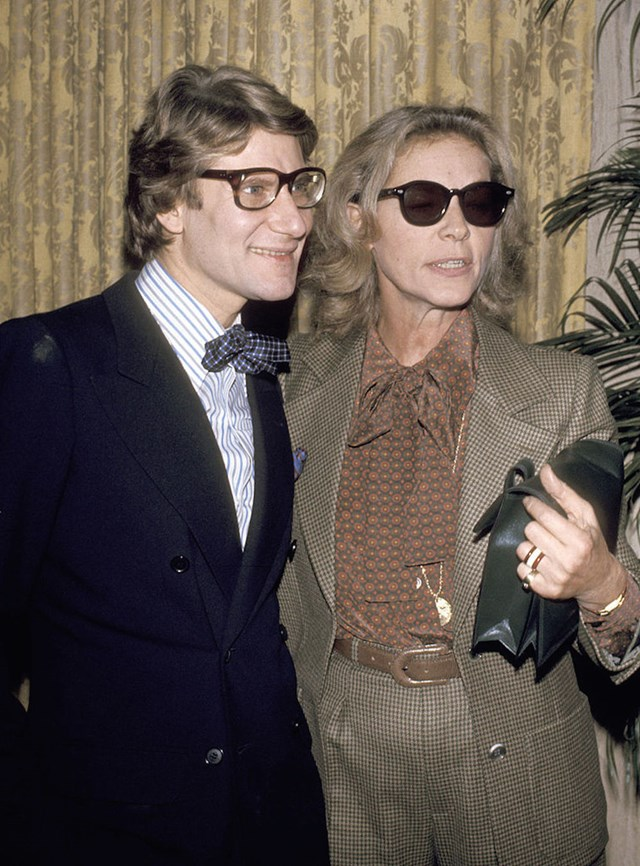 Yves St.Laurent and Lauren Bacall