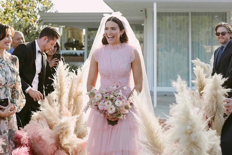 Celebrity Brides In Pink Wedding Dresses   Marie Claire Australia