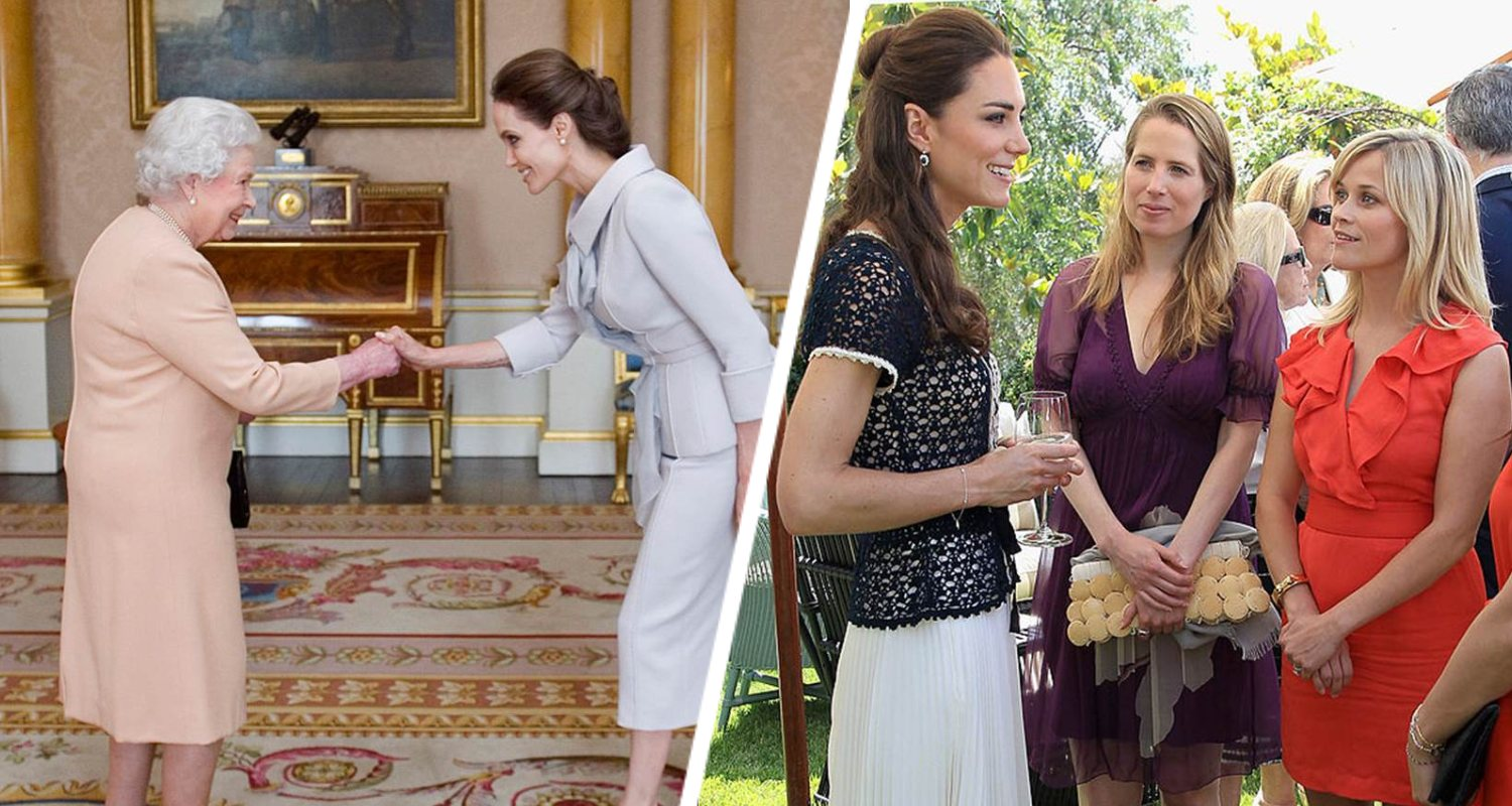 21 Iconic Photos Of Celebrities Meeting Royals