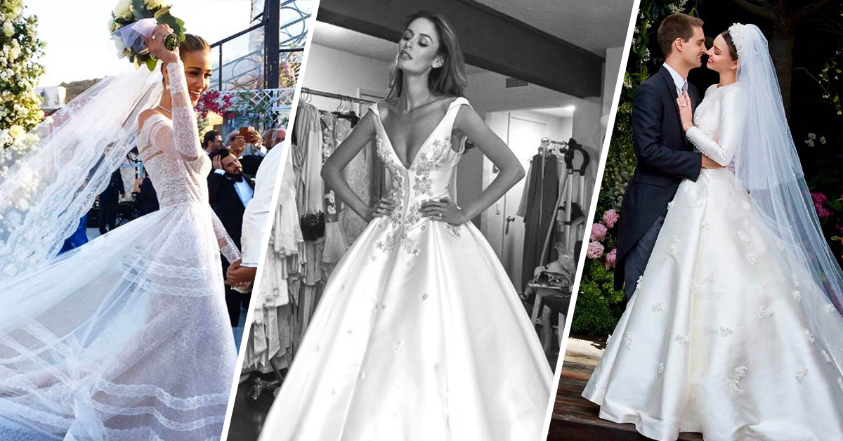 The Most Iconic Supermodel Wedding Dresses Marie Claire Australia