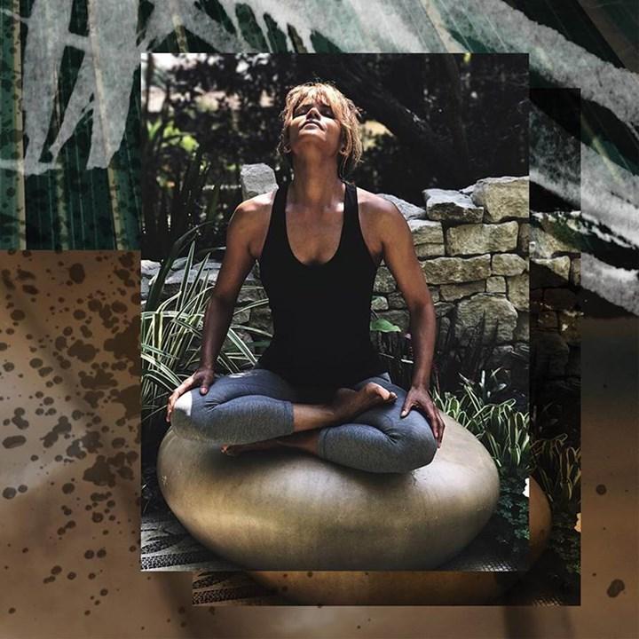 Halle Berry meditation