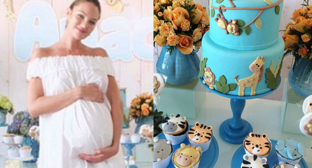 177b5a91911 Inside Candice Swanepoel s Animal Themed Baby Shower