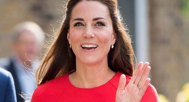 Duchess Kate Wows In Stunning Red Frock
