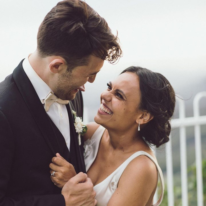 Miranda Tapsell James Colley married her wedding